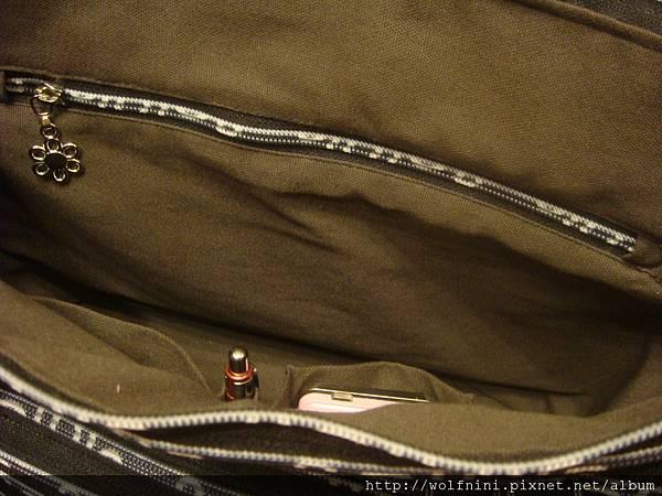 大型側背拉鍊包_內拉鍊口袋