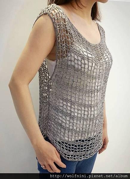 人生第一件鉤針編織衣