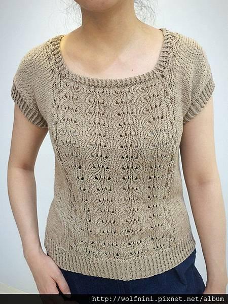 人生第一件棒針編織衣-成品