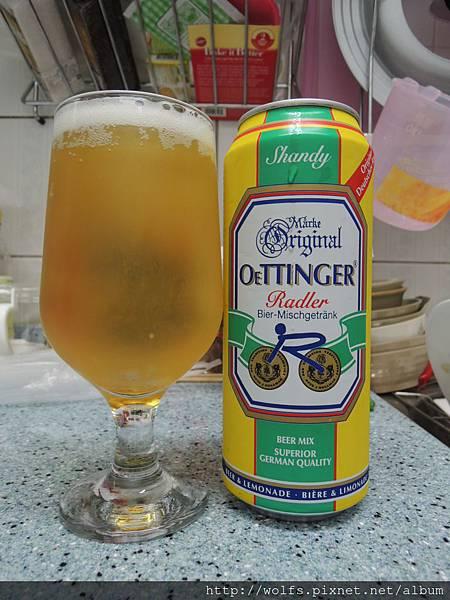 DSCN2071-德國歐汀格檸檬特調啤酒(Oettinger)