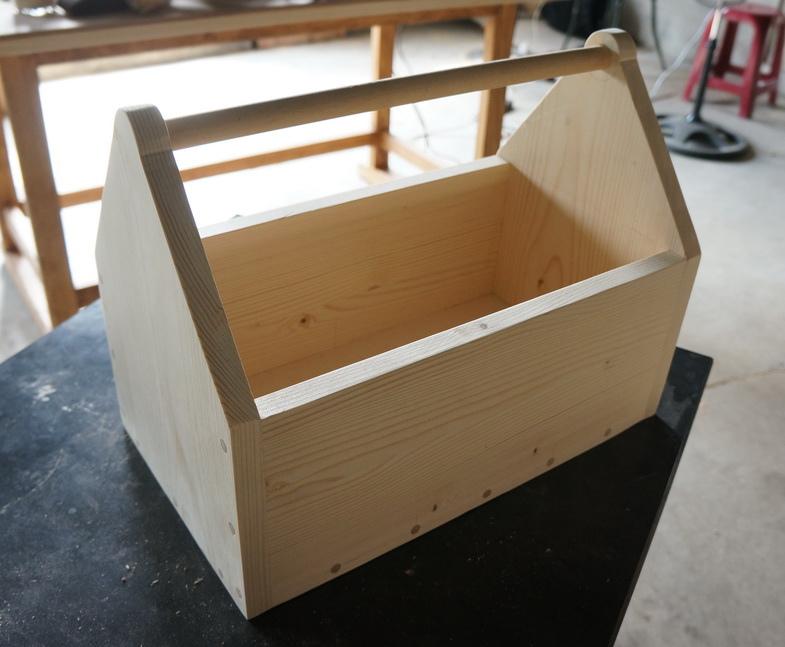 親子DIY手提木箱