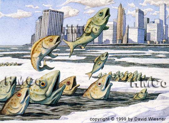 An illustration from Sector 7 by David Wiesner