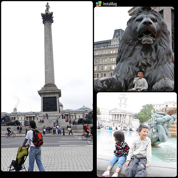 Trafalgar Square with Nelson's Column