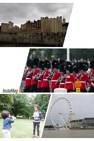 Tower of London, London Eye, Buckingham Palace