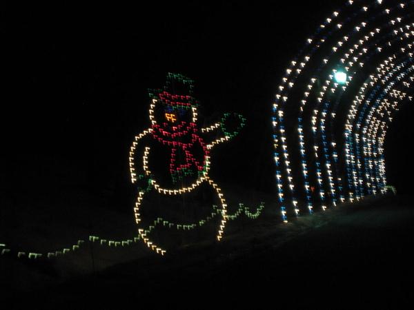 迎接來賓的雪人