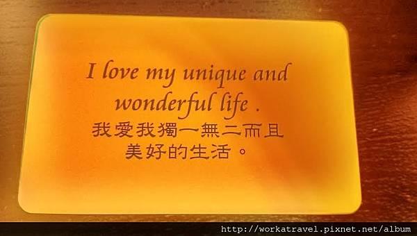 我愛我且獨一無二的生活