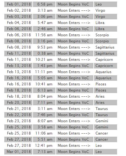 2018 2月 月空