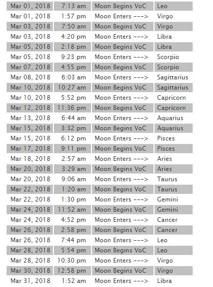 2018 3月 月空
