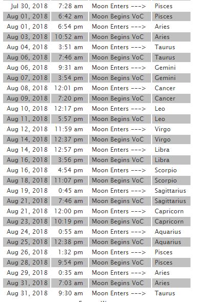 2018 8月 月空