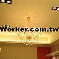 天花板水晶燈