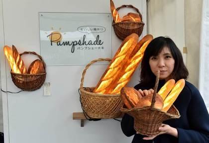 森田優希子的巧思讓麵包不再只是麵包。法新社2