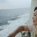 好不容易趕上最後一班往小琉球的船