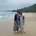 第一張沙灘合照,不夠多海