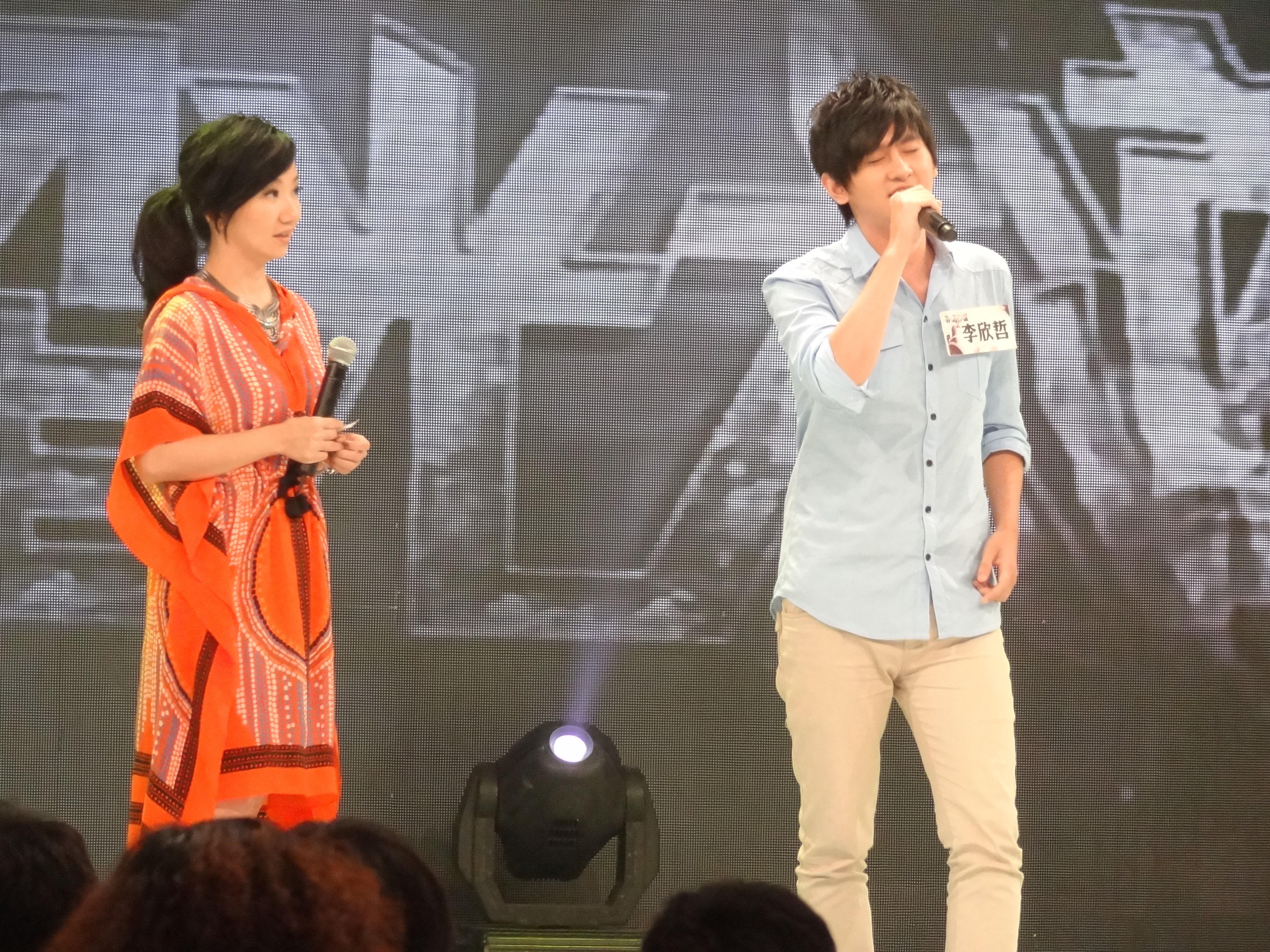 李欣哲即興演唱動漫歌曲評審直說應該拿來參賽