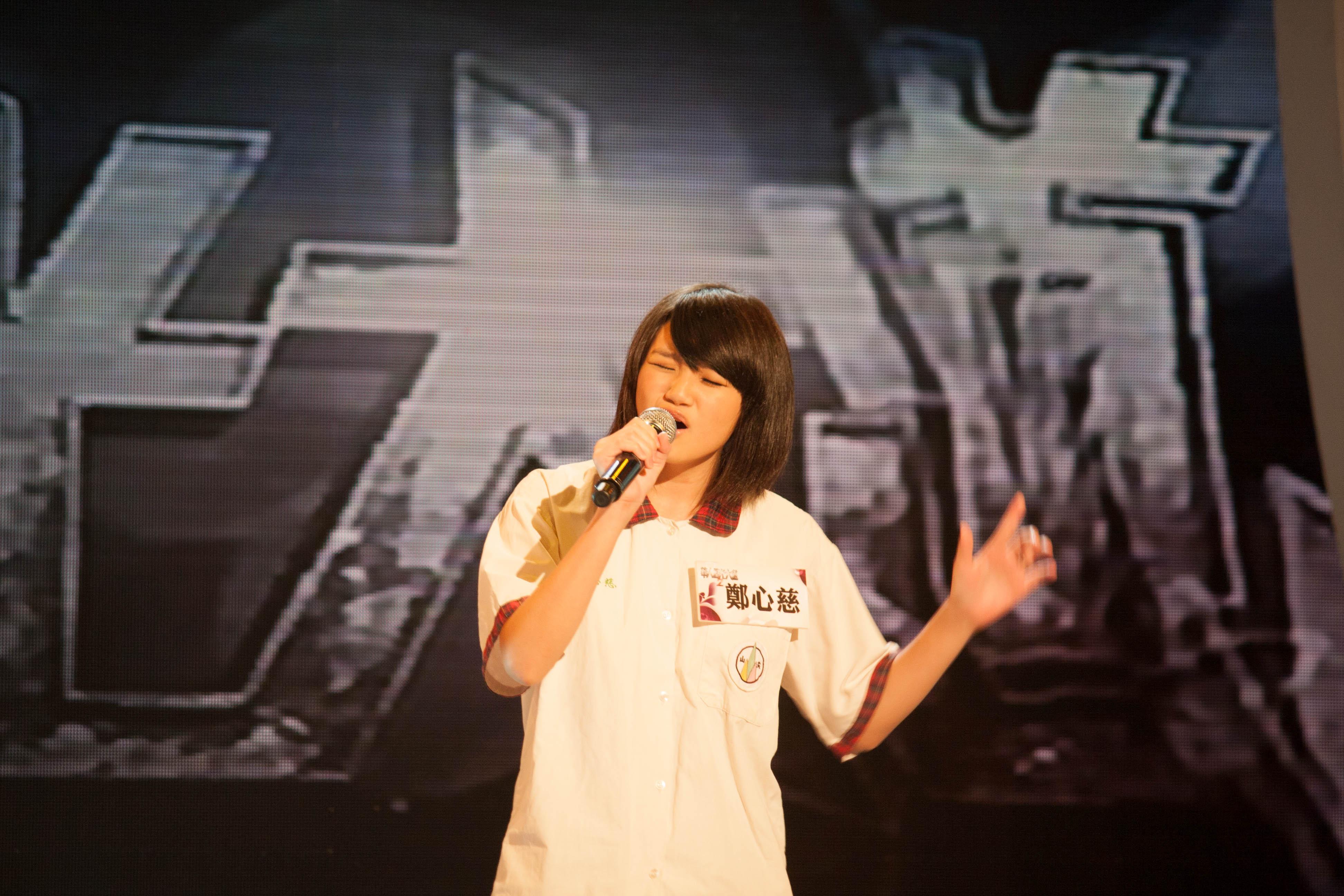 被評審梁詠琪認為是天生歌手的14歲鄭心慈