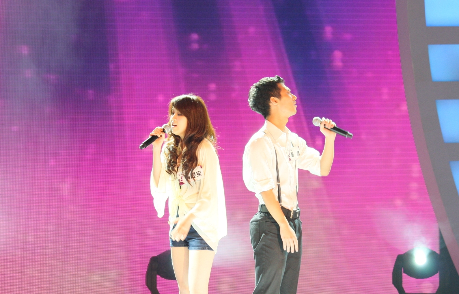 張礎安和劉沛的表現 讓主人時陶晶瑩讚嘆是總決賽的演出水準