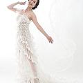 這件透明的婚紗禮服屬特殊設計,非常典雅細緻
