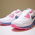 Nike Air Max 90 藍粉紅
