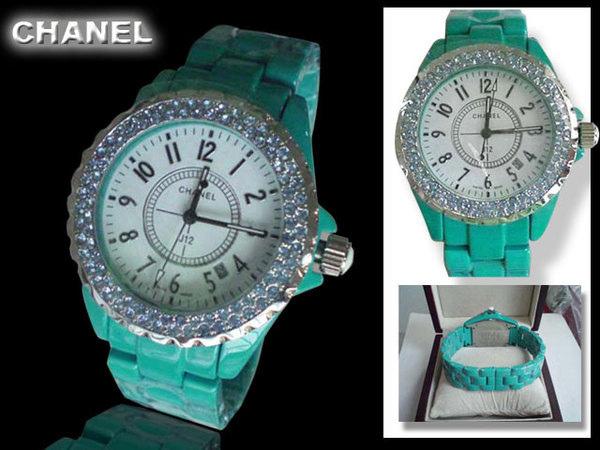Chanel香奈兒 綠陶餈配藍寶石水晶時尚手錶.jpg