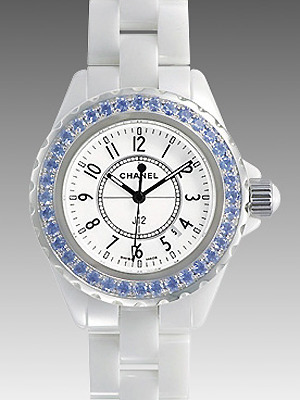 Chanel香奈兒J12陶瓷藍寶石女士休閒腕表.jpg