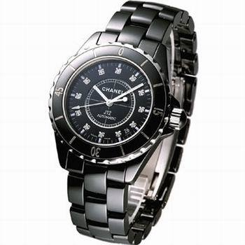 Chanel香奈兒瑞士ETA石英鑽釘帶曆陶瓷情侶腕表1.jpg