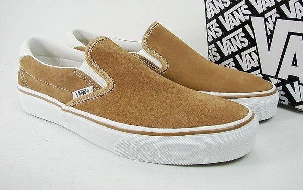VANS 時尚滑板鞋 卡其色 休闲鞋1.jpg