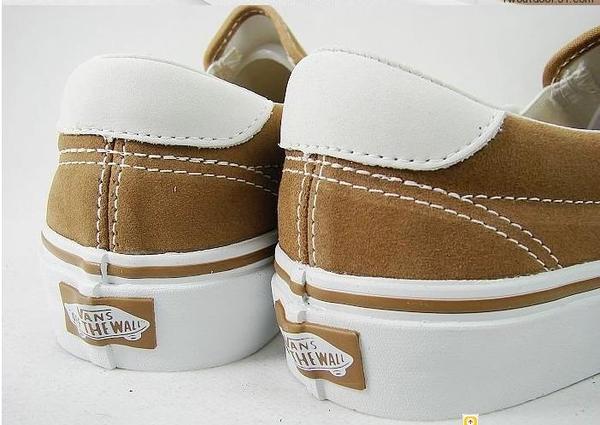 VANS 時尚滑板鞋 卡其色 休闲鞋2.jpg