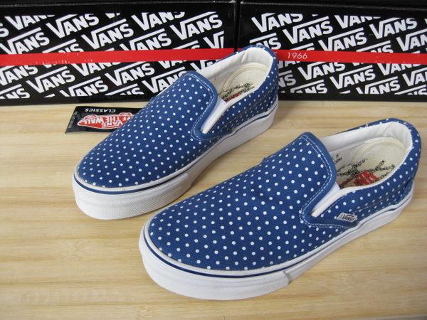 NS SLIP ON藍色白點點女生款 帆布鞋 懶人鞋.jpg