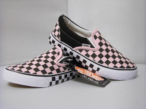 VANS 時尚滑板鞋 淡红  經典09熱銷基本款 情侶款.jpg