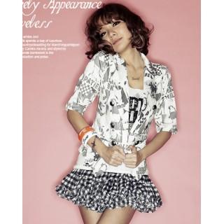 [00608]雜誌推薦人物風西裝外套-白色