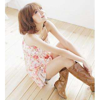 [00397]甜美碎花雪紡吊帶洋裝-粉色