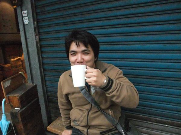 少爺喝到E61咖啡.樂滴咧~