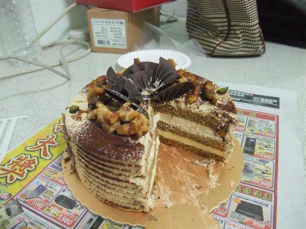 情人節蛋糕-吃了一口才想到.哈