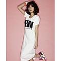 [00599]簡約NEW連身長版T恤-3色 - 白色 & 灰色 & 黑色