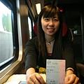 從 Geneva機場到 Geneva 的火車上