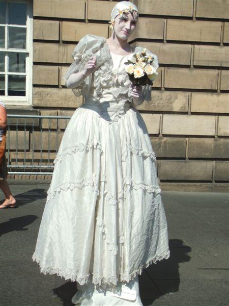 愛丁堡藝術節的街頭藝人