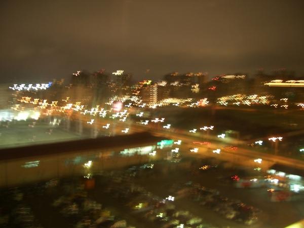 摩天輪上的夜景