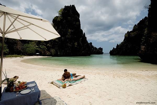 24. El Nido Resorts Activities - Private Picnic at Kulasa Lagoon Beach.JPG