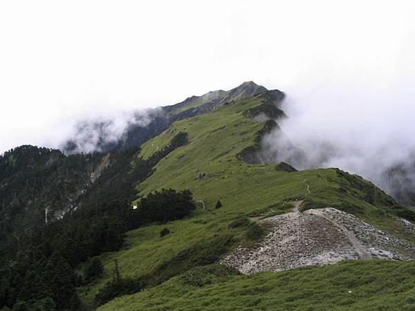 奇萊主峰的稜線-1