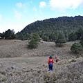 抵達盆駒山中峰前取水鞍