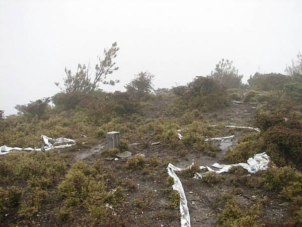 內嶺爾山3275m,不銹鋼基點,此行第二座百岳