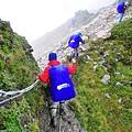 稜線上危險處都可拉繩