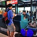 兩個小時前到亞洲航空櫃台前check in