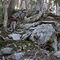 一小段岩稜