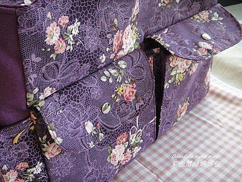 紫色蕾絲媽媽包(1)
