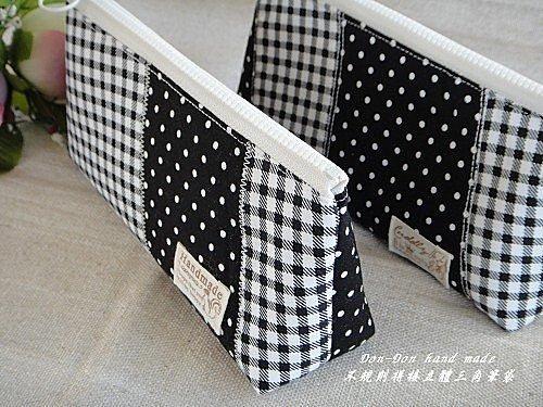 不規則拼接立體三角筆袋(1)