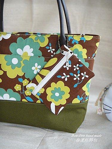春漾托特包。方型雙拉鍊萬用包。小包(2)