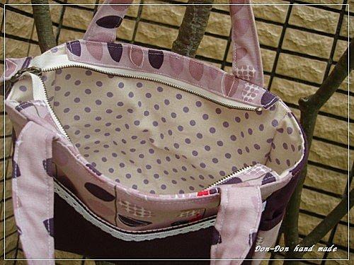 紫色樹葉手提包(3)