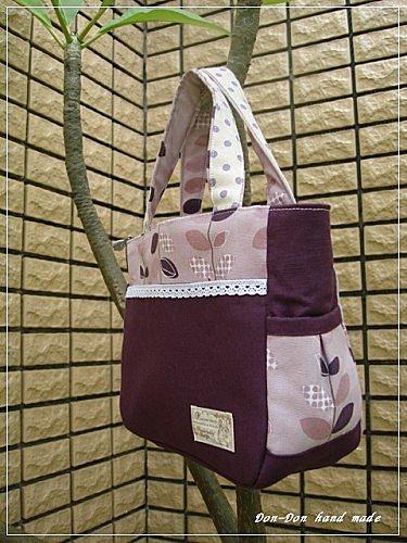 紫色樹葉手提包(2)
