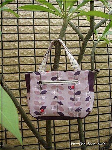 紫色樹葉手提包(1)